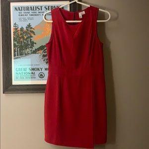 Red sleeveless mini dress